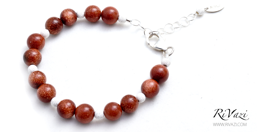RiVazi Brown Gold Stone Bracelet